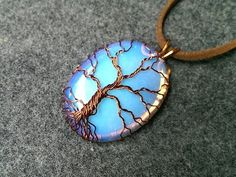 "pendant ""Tree of Life"" with big stone no holes - How to make wire jewelery 206 - YouTube"