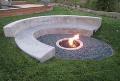 Curved Concrete Bench With Fire Pit : Cleaning Your Concrete Benches