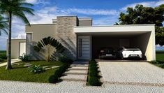 garage exterior pergola minimalista - Buscar con Google #Casasminimalistas #casasminimalistasprojeto