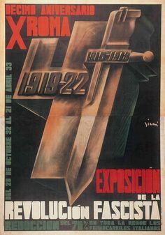 Exposiciòn de la Revoluciòn Fascista, 1933. Artist: Mario Sironi (Massimo & Sonia Cirulli Archive)