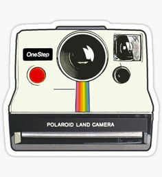 Polaroid Camera illustration drawing sticker Sticker The Effective Pictures We Offer You About Lapto Tumblr Stickers, Phone Stickers, Cool Stickers, Printable Stickers, Preppy Stickers, Brand Stickers, Vsco, Red Bubble Stickers, Aesthetic Stickers