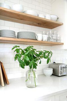 raw wood kitchen shelf - Google Search