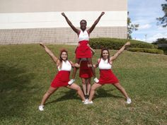 How to Do Beginning Cheerleading Stunts Double Thigh Stand