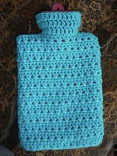 Ravelry: X Marks the Spot Hot Water Bottle Cozy pattern by Luciana Young Crochet Gifts, Free Crochet, Knit Crochet, Knitted Gifts, Crochet Afgans, Afghan Crochet, Easy Crochet, Pinterest Crochet, Knitting Patterns