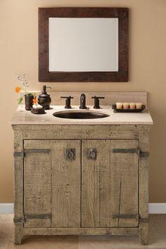 Lovely Old World Vanity Cabinet