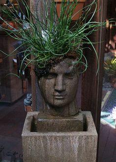Head Planter by *ELynn, via Flickr