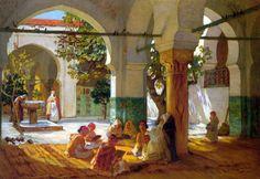 The Athenaeum - Learning the Qu'ran (Frederick Arthur Bridgman - )