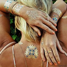 How to Be a Boho Beach Goddess With Flash Tattoos