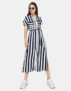 Long Shirt Outfits, Long Shirt Dress, The Dress, Summer Work Dresses, Simple Dresses, Casual Dresses, Women's Fashion Dresses, Skirt Fashion, Chic Outfits