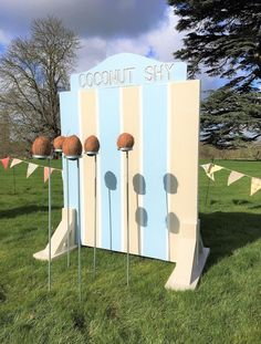 Coconut shy hire northampton included in a set of 5 fete games Wedding hire Northampton