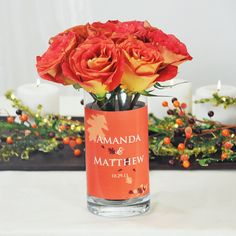Fall Reception Table Decorations | Fall Wedding Table Decoration