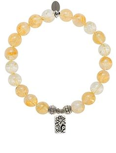EvaDane Natural Semi Precious Citrine Gemstone Rope Bead Lotus Charm Stretch Bracelet - Size 7 Inch ( 1_CIT_S_R_LOT_7). EvaDane bracelets are crafted from genuine semiprecious stones, wood, coral or lava. Each EvaDane bracelet includes an informational card explaining the meaning and metaphysical properties of the charm and bead. All EvaDane bracelets are handcrafted in the USA and arrive in a high quality jewelry box. Metal components are composed of a lead and nickel free alloy which may…