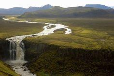Tangafoss waterfall, Laugavegur, Iceland