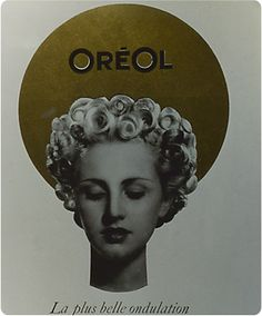 "1945...A certain Coco Chanel gives fresh impetus to the fashion for short hair, held up in curls by a perm. Unfortunately, conventional perms require heating hoods and electric rollers, both of which take up space in the salon and are somewhat uncomfortable for customers. With the launch of Oréol, a ""cold perm"" featuring an active acid ingredient and a setting lotion, L'Oréal revolutionizes the practices of hair salons and offers women far more natural curls. © L'Oréal/DR"