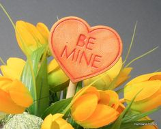 Valentine Heart Card Tag Magnet Be Mine in by HurricanePottery