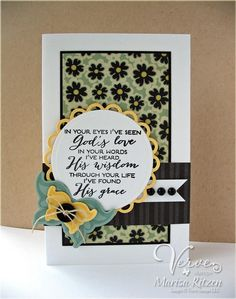 #papercraft #cards   Card by Marisa Ritzen using Be Blessed and Die Sidekicks from Verve.  #vervestamps