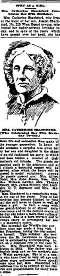 """Amanuensis Monday - Mrs Catherine (Mullett) Shackford at age 87 - Spry as a Girl"""""""