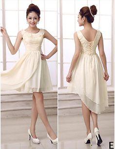 Mix & Match Dresses Short/Mini Chiffon 5 Styles Bridesmaid Dresses (3789820) – USD $ 59.99