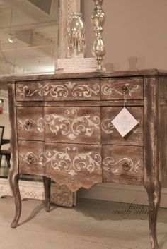 stenciled furniture.