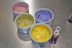 Edible finger paint! Use greek yogurt and natural food color
