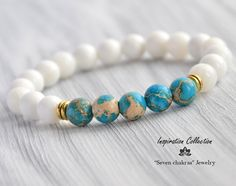 Turquoise bracelet aqua bracelet turquoise bangle blue Bracelet Gift for her Gemstone bracelet unisex bracelet boho bracelet - Bracelets - Jewelry Chakra Armband, Bracelet Chakra, Yoga Bracelet, Bangle Bracelet, Gemstone Bracelets, Bracelets For Men, Silver Bracelets, Gemstone Jewelry, Jewelry Bracelets