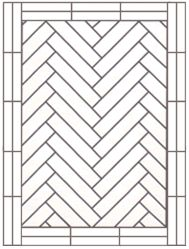 flooring single herringbone with two block border