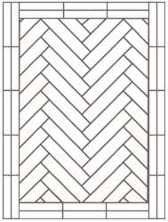 flooring single herringbone with two block border