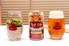 発表されたクラフトビール「Craft Label 柑橘香るペールエール」。パッケージのデザインは、明るく楽しいイメージを演出するために、手書き風の太陽のアイコンを採用。グラスはサッポロライオンで提供されるときに使用されるオリジナルグラス