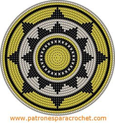 """The location where building and construction meets style, beaded crochet is the act of using beads to decorate crocheted products. """"Crochet"""" is derived fro Tapestry Crochet Patterns, Crochet Motifs, Crochet Stitches Patterns, Crochet Chart, Bead Crochet, Stitch Patterns, Sac Granny Square, Mochila Crochet, Crochet Gratis"""