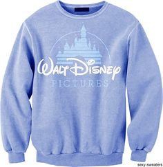 WALT DISNEY PICTURES LIGHT BLUE VINTAGE SWEATSHIRT