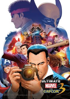 Video Game Art - Ultimate Marvel vs. Capcom 3 Gamer's Day poster artwork