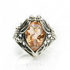 APRICOT SWEETNESS #jewelry #wirewrapping #ring