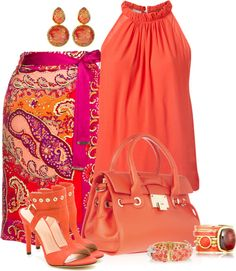 A fashion look from February 2013 featuring Witchery tops, Stuart Weitzman sandals and Jimmy Choo tote bags. Browse and shop related looks. Classy Outfits, Stylish Outfits, Look Fashion, Womens Fashion, Fashion Trends, Fashion Beauty, Jw Mode, Mode Orange, Mode Collage