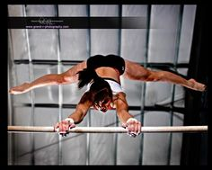 STRENGTH is the new Beautiful - gymnast on uneven bars, women's gymanstics WAG, cool sports photography, moved from Kythoni's main Gymnastics board m.32.6 #KyFun