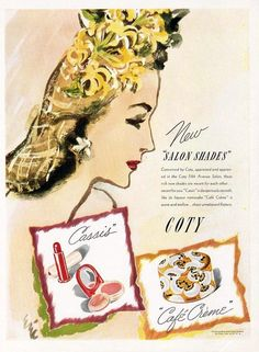 New Salon Shades from Coty, 1943