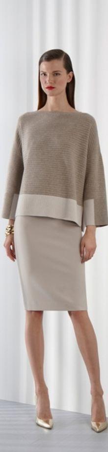 St. John. Nice skirt and beautiful sweater- beautiful combination. ❤️SLMinGA.