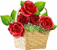 View album on Yandex. Rose Basket, Flower Basket, Cartoon Flowers, Good Morning Wishes, Beautiful Roses, Happy Sunday, Great Artists, Flower Designs, Flower Power