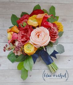 Fall Rustic Wedding Bouquet, Orange Cranberry Wedding Bouquet by blueorchidcreations on Etsy