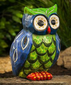 The Folksy Friends Popular Buho Owl Garden Statue really is a hoot. This wide-eyed owl is hand-painted with vibrant colors that pop. Garden Owl, Owl Always Love You, Beautiful Owl, Ceramic Owl, Owl Crafts, Owl Bird, Forest Friends, Cute Owl, Garden Statues