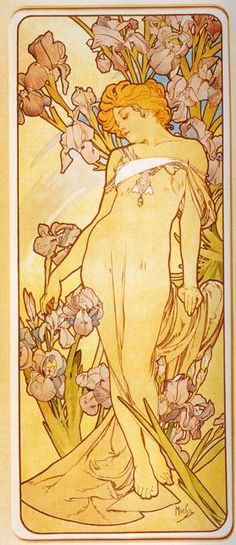 mucha | Alphonse Mucha Art: Iris. From The Flowers Series.