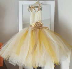 Check out this item in my Etsy shop https://www.etsy.com/au/listing/288731177/ivory-gold-and-coffee-flower-girl-tutu