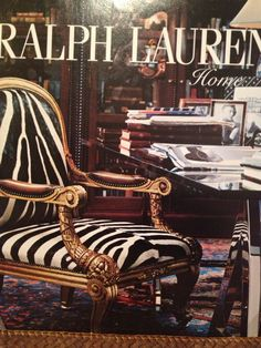 ralph lauren home ad do we love that chair