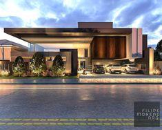 Best Modern House Design, Modern Villa Design, Modern Exterior House Designs, Bungalow Exterior, Bungalow House Design, House Front Design, Dream House Exterior, Exterior Design, Modern House Facades