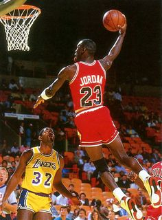 Michael #Jordan.  Dunked on me once in a pickup game at UNC.  Proud to be in that club. :-)