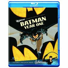 Batman: Year One [Blu-ray].  Based on the DC Comics mini-series by Frank Miller, this takes us literally back to the first year when Bruce Wayne went out as Batman and met Lt. James Gordon.  Gritty style, hard-edged, and raw.  Plus it features a Catwoman short episode!