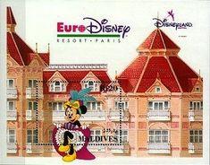 Francobollo: Minnie Mouse (Isole Maldive) (Opening of Euro Disney Resort, Paris) Mi:MV BL268,Sn:MV 1829