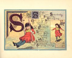 1884 -Alice's alphabet -S Johnson, Margaret ( Illustrator) Vintage Children's Books, Vintage Crafts, Vintage Ephemera, Vintage World Maps, S Alphabet, Alphabet Cards, Alphabet And Numbers, Alice, Picture Dictionary