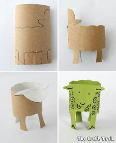 Where is the Green Sheep book and craft Toddler Crafts, Preschool Crafts, Easy Crafts, Crafts For Kids, Toilet Roll Craft, Toilet Paper Roll Crafts, Projects For Kids, Diy For Kids, Rolled Paper Art