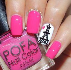 Paris nail art by Amy