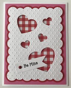 75 Handmade Valentine's Day Card Ideas for Him That Are Sweet & Romantic - Hike n Dip - Geprägte karten Valentine Love Cards, Diy Valentine, Handmade Valentines Cards, Homemade Valentines Day Cards, Wedding Cards Handmade, Embossed Cards, Heart Cards, Big Shot, Halloween Cards